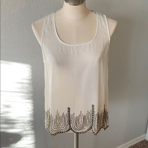 Scalloped great gatsby style top